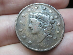 1835 MATRON HEAD LARGE CENT PENNY  HEAD OF 1836 FINE/VF DETAILS