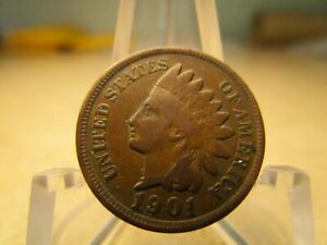 1901 AVERAGE CIRCULATED INDIAN HEAD PENNY