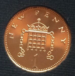 1978 PROOF 1P ONE NEW PENNY ONE PENCE COIN