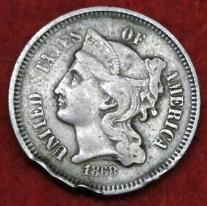 1868 PHILADELPHIA MINT THREE CENT NICKEL 70