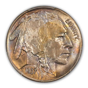 Click now to see the BUY IT NOW Price! 1937 D 5C 3 LEGS BUFFALO NICKEL PCGS MS65   CAC