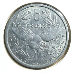 1952 NEW CALEDONIA 5 FRANCS COIN