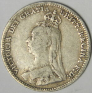 1891 GREAT BRITAIN 3 PENCE INV 867   PRICED RIGHT