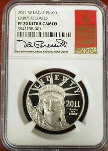 Click now to see the BUY IT NOW Price! 2011 W $100 PLATINUM EAGLE NGC PF70 UCAM EARLY RELEASE BRESSETT RED BOOK PROOF