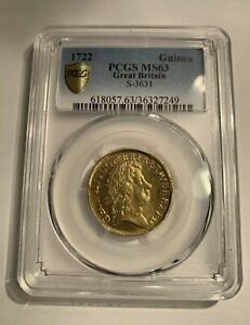 Click now to see the BUY IT NOW Price! GEORGE I 1722 GOLD GUINEA PCGS MS63 HIGHEST GRADED   A  COIN