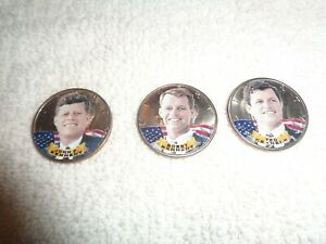 KENNEDY SET OF 3 1/2 DOLLAR COINS