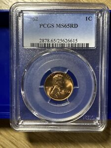 1962 P 1C LINCOLN CENT   PCGS MS 65RD  RED   MS 65