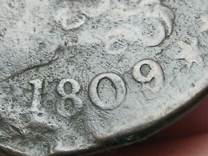 1809/6 CAPPED BUST HALF CENT  9 OVER INVERTED 9