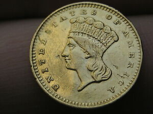 1858 S $1 GOLD INDIAN PRINCESS ONE DOLLAR COIN   SAN FRANCISCO DATE
