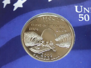 2003 MISSOURI PROOF CLAD STATE QUARTER   OUT OF THE PROOF SET PERFECT
