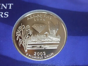 2003 ARKANSAS PROOF CLAD STATE QUARTER   OUT OF THE PROOF SET PERFECT