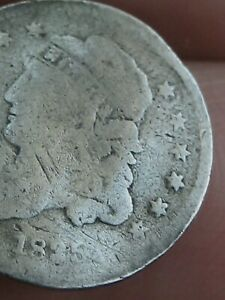 1835 CAPPED BUST HALF DIME  SMALL DATE LARGE 5C
