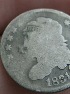 1831 CAPPED BUST SILVER HALF DIME  GOOD DETAILS