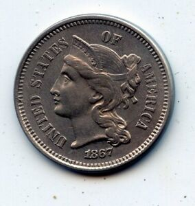 1867 THREE CENT 3C NICKEL    SEE PROMO