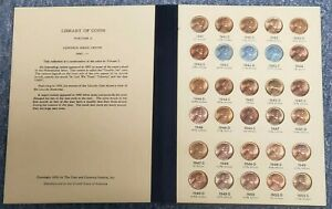 LIBRARY OF COINS WHEAT CENT OLD ALBUM COMPLETE FROM 1941 1958 BU UNCIRCULATED