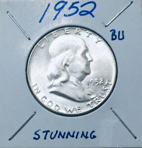1952 FRANKLIN HALF DOLLAR BETTER DATE GEM BU STUNNING