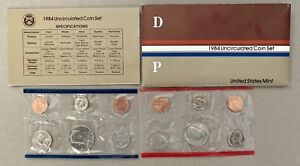 1984 P&D U.S. MINT UNCIRCULATED COIN SET IN OGP WITH COA WITH ERROR PENNY  CUD