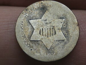 1852 OR 1853 THREE 3 CENT SILVER TRIME  TYPE 1