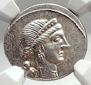 Click now to see the BUY IT NOW Price! JULIUS CAESAR 46BC VERCIGETORIX WIN VENUS NGC CERTIFIED SILVER ROMAN COIN I75090