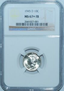 Click now to see the BUY IT NOW Price! 1945 D NGC MS67 FB FULL SPLIT BANDS MERCURY DIME