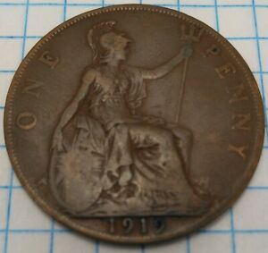 1919 GREAT BRITAIN PENNY ENGLAND ENGLISH