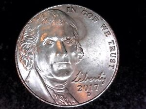 2017 D COLLECTABLE  DOUBLING JEFFERSON NICKEL COIN ERROR  2160