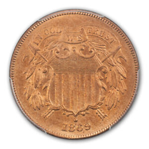 Click now to see the BUY IT NOW Price! 1869 2C TWO CENT PIECE PCGS MS66RD