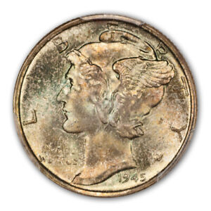 Click now to see the BUY IT NOW Price! 1945 S 10C MICRO S MERCURY DIME PCGS MS67 FB  CAC