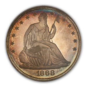 Click now to see the BUY IT NOW Price! 1868 50C LIBERTY SEATED HALF DOLLAR PCGS PR67CAM  CAC