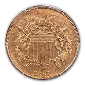 Click now to see the BUY IT NOW Price! 1867 2C TWO CENT PIECE PCGS MS66RD