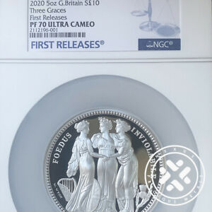 Click now to see the BUY IT NOW Price! 2020 GREAT ENGRAVERS THREE GRACES NGC PF 70 ULTRA CAMEO FIRST RELEASES 5 OZ