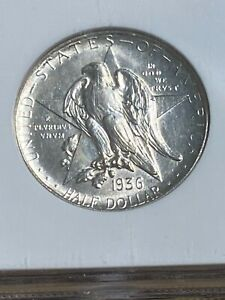 1936 D TEXAS COMMEMORATIVE HALF DOLLAR GRADED MS64 BY NGC