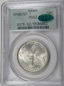 1935 OLD SPANISH TRAIL 50C PCGS MS62 CAC OLD GREEN HOLDER LOOKS MUCH MUCH NICER