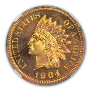 Click now to see the BUY IT NOW Price! 1904 BRONZE INDIAN CENT 1C NGC PR66 RD CAM