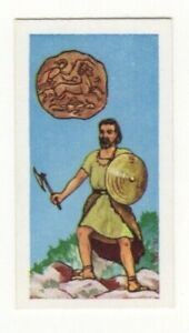 BRITISH COINS & COSTUMES CARDS 1960S. ANCIENT BRITISH COIN. 4TH CENTURY BC