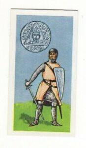 BRITISH COINS & COSTUMES CARDS 1960S. KING JOHN COIN