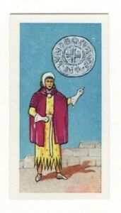BRITISH COINS & COSTUMES CARDS 1960S.KING HENRY III. SILVER PENNY