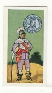 BRITISH COINS & COSTUMES CARDS 1960S.KING JAMES I. SHILLING