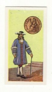 BRITISH COINS & COSTUMES CARDS 1960S.KING JAMES II. HALFPENNY