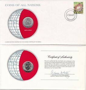 COINS OF ALL NATIONS SOUTH AFRICA 1978 20 CENTS KM 86 NICKEL BUNC   US SELLER