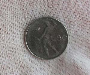 1978 ITALY 50 LIRE; CIRCULATED;