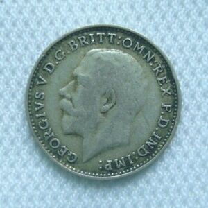 3 PENCE 1921 GEORGE V BRITISH SILVER COIN