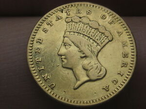 1859 S $1 GOLD LIBERTY HEAD ONE DOLLAR COIN  VF/XF DETAILS