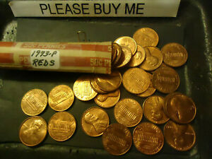 1973 P LINCOLN CENT REDS ROLL            >> C/S & H AVAILABLE <<