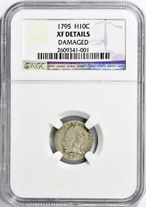 Click now to see the BUY IT NOW Price! 1795 FLOWING HAIR HALF DIME NGC XF DETAILS