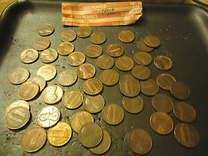 1980 D ROLL OF LINCOLN CIRCS CENTS      > S&H   C/S <