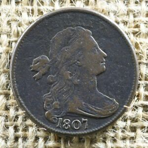 1807 1C DRAPED BUST LARGE CENT