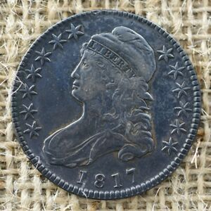 1817 50C XF DETAILS CAPPED BUST HALF DOLLAR
