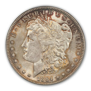 Click now to see the BUY IT NOW Price! 1884 S $1 MORGAN DOLLAR PCGS MS63   CAC