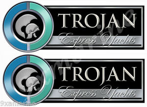 Two Trojan Boat Remastered Stickers - Generic - $ 19.95